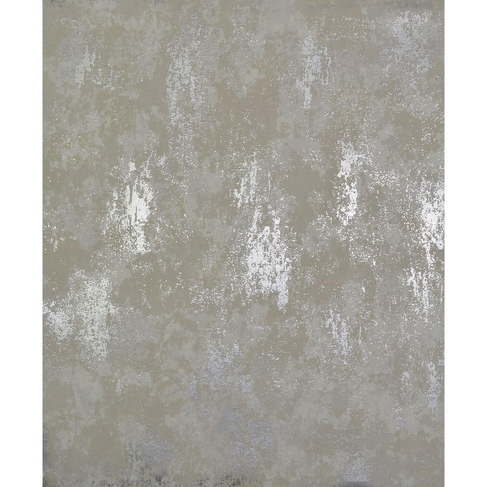56.9 sq. ft. White/Silver Nebula Wallpaper