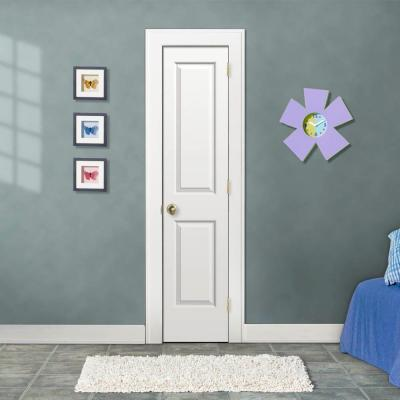 18 in. x 80 in. Cambridge Primed Left-Hand Smooth Solid Core Molded Composite MDF Single Prehung Interior Door