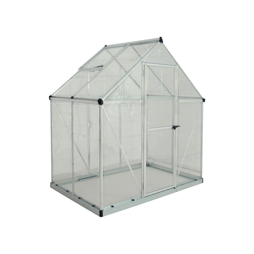 Palram Harmony 6 Ft X 4 Polycarbonate Greenhouse In Silver