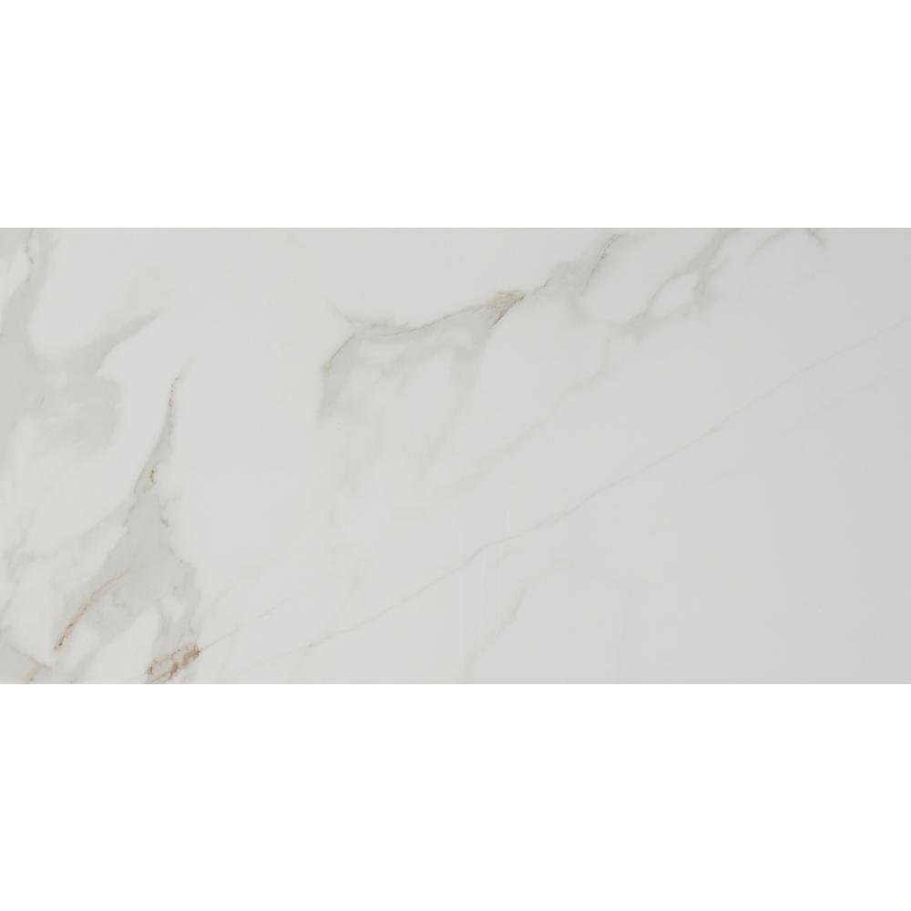 Msi Carrara 12 In X 24 In Glazed Porcelain Floor And