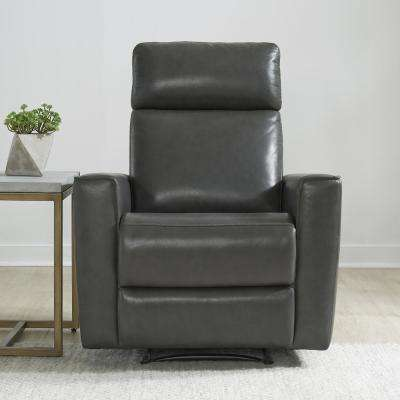 Nuovo Gray Leather Power Motion Recliner