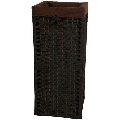 Black Natural Fiber Laundry Trunk