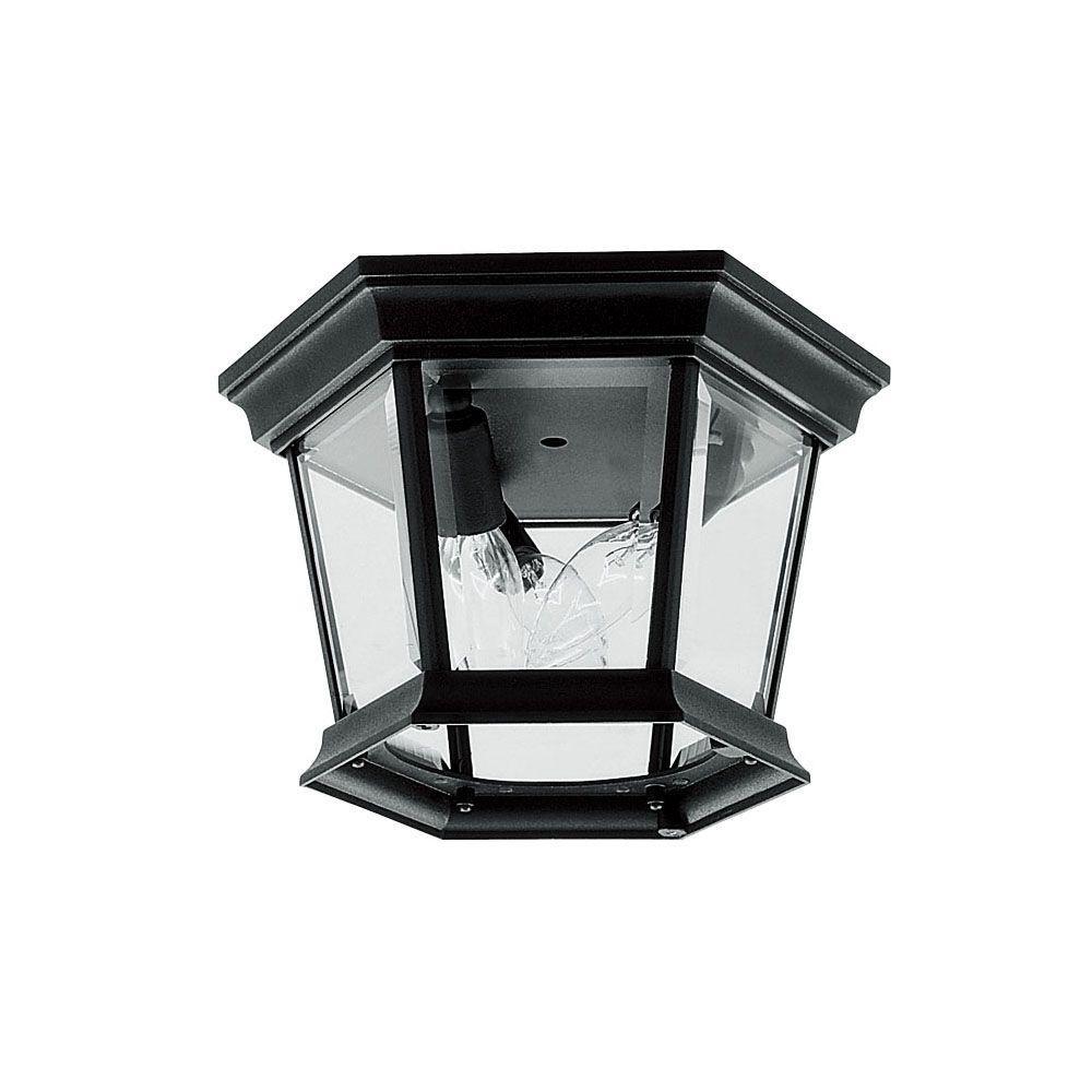 Providence 3-Light Black Candelabra Ceiling Flushmount
