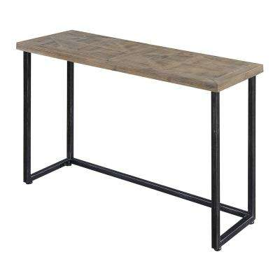 Laredo Parquet Natural and Black Console Table