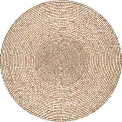 Braided Draya Jute Natural 8 ft. x 8 ft. Round Rug