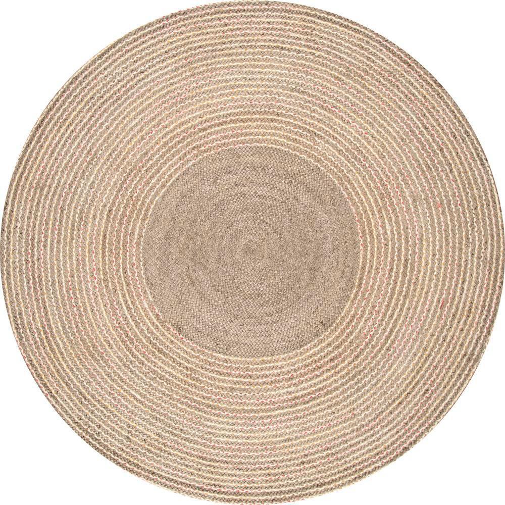 Braided Draya Jute Natural 8 ft. x 8 ft. Round Rug