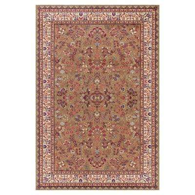 Jewel Sarouk Green 6 ft. 7 in. x 9 ft. 3 in. Area Rug
