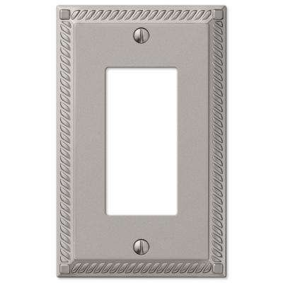 Georgian 1 Decora Wall Plate - Satin Nickel Cast