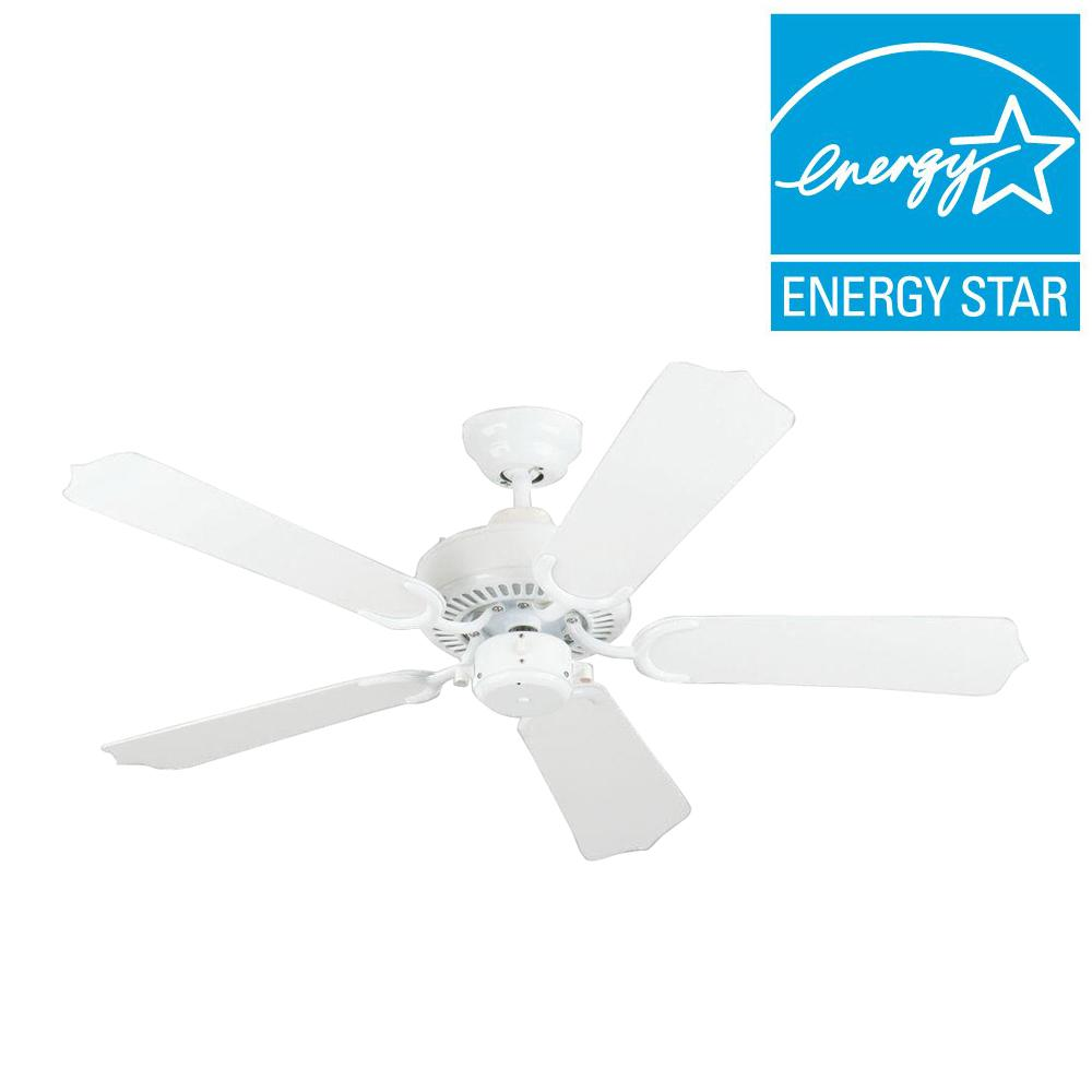 Sea Gull Lighting Bayou 42 in. Outdoor White Ceiling Fan