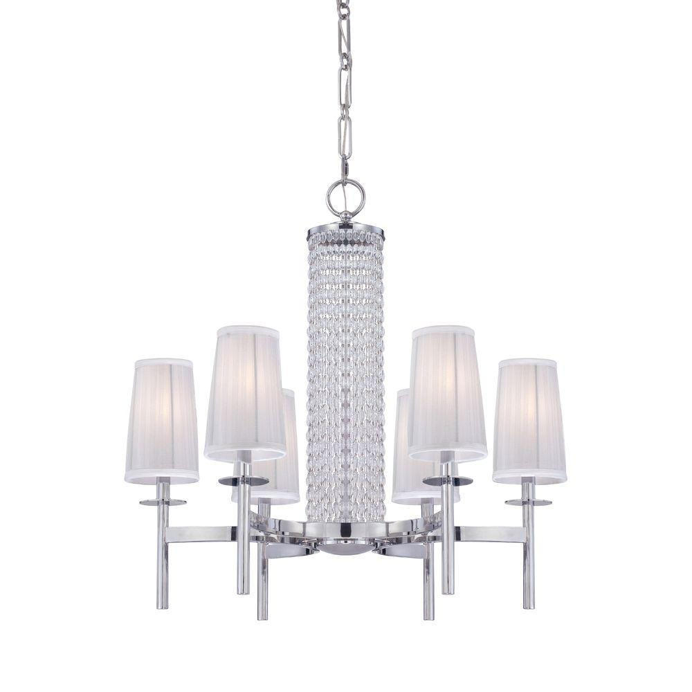 Designers fountain candence 6 light chrome interior incandescent designers fountain candence 6 light chrome interior incandescent chandelier aloadofball Choice Image