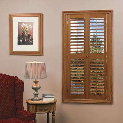 Plantation Faux Wood Oak Interior Shutter ...