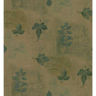 Kitchen and Bath Resource II Brown Multi-Leaf Wallpaper Sample
