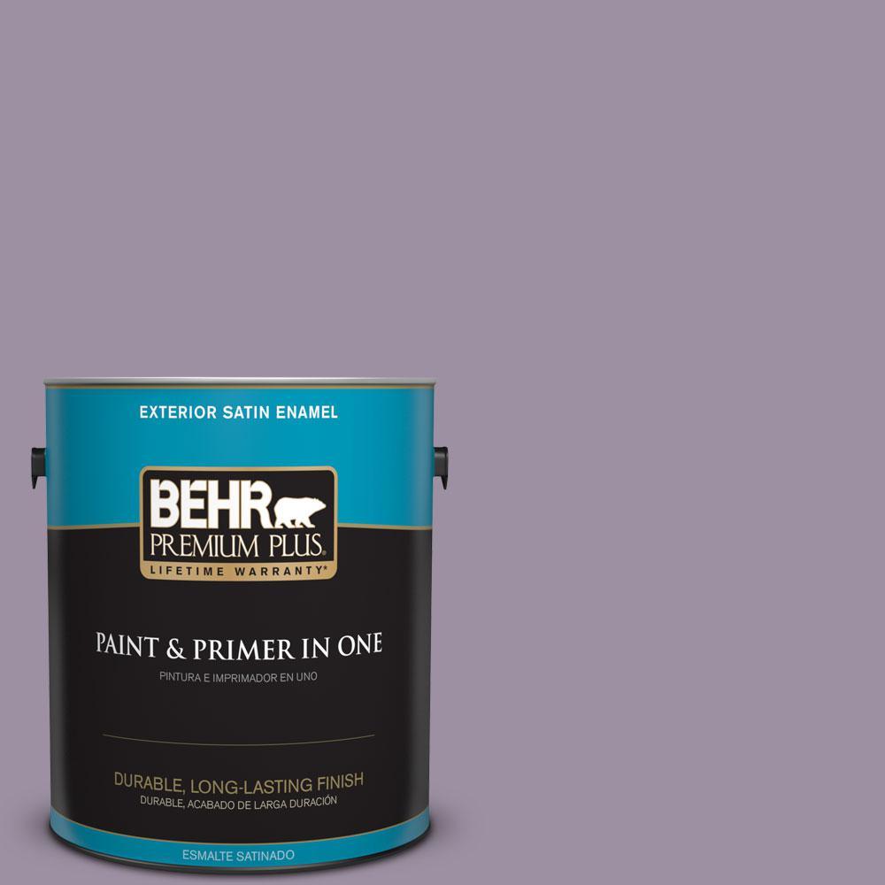 BEHR Premium Plus 1-gal. #660F-5 Amethyst Phlox Satin Enamel Exterior Paint