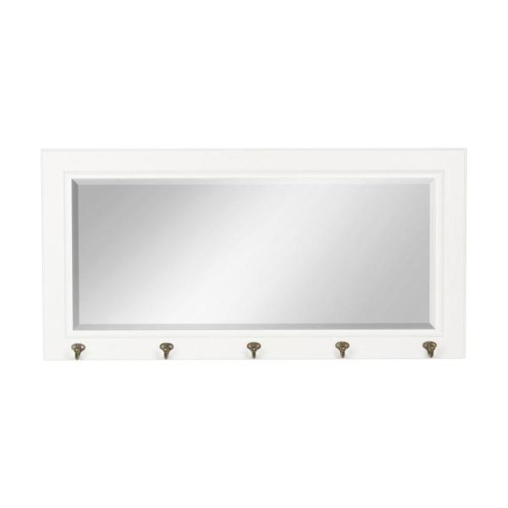 DesignOvation Pub Rectangle White Mirror 209896