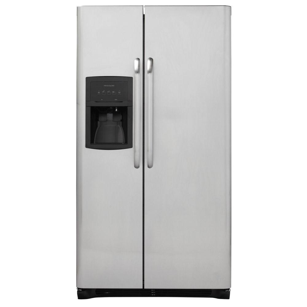 Frigidaire 25.5 cu. ft. Side by Side Refrigerator in Stainless Steel