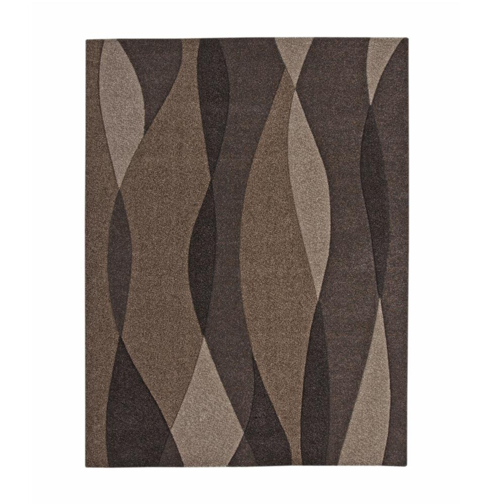 Sedona Waves Brown 8 Ft X 10 Ft Area Rug 2401 8x10 The Home Depot