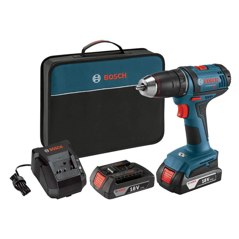 Bosch 18 Volt Lithium-Ion Cordless 1/2 in. Variable Speed Compact Drill/Driver Kit