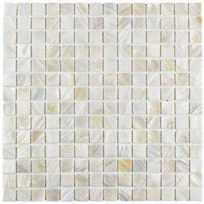 Conchella Square White 12 in. x 12 in. x 2 mm Natural Seashell Mosaic Tile