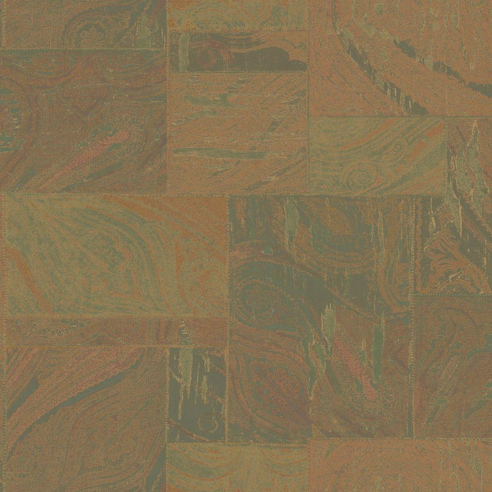 The Wallpaper Company 8 in. x 10 in. Fresco Paisley Patchwork Wallpaper Sample