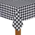 Buffalo Check 60 in. x 84 in. Black 100% Cotton TableCloth for Any Table