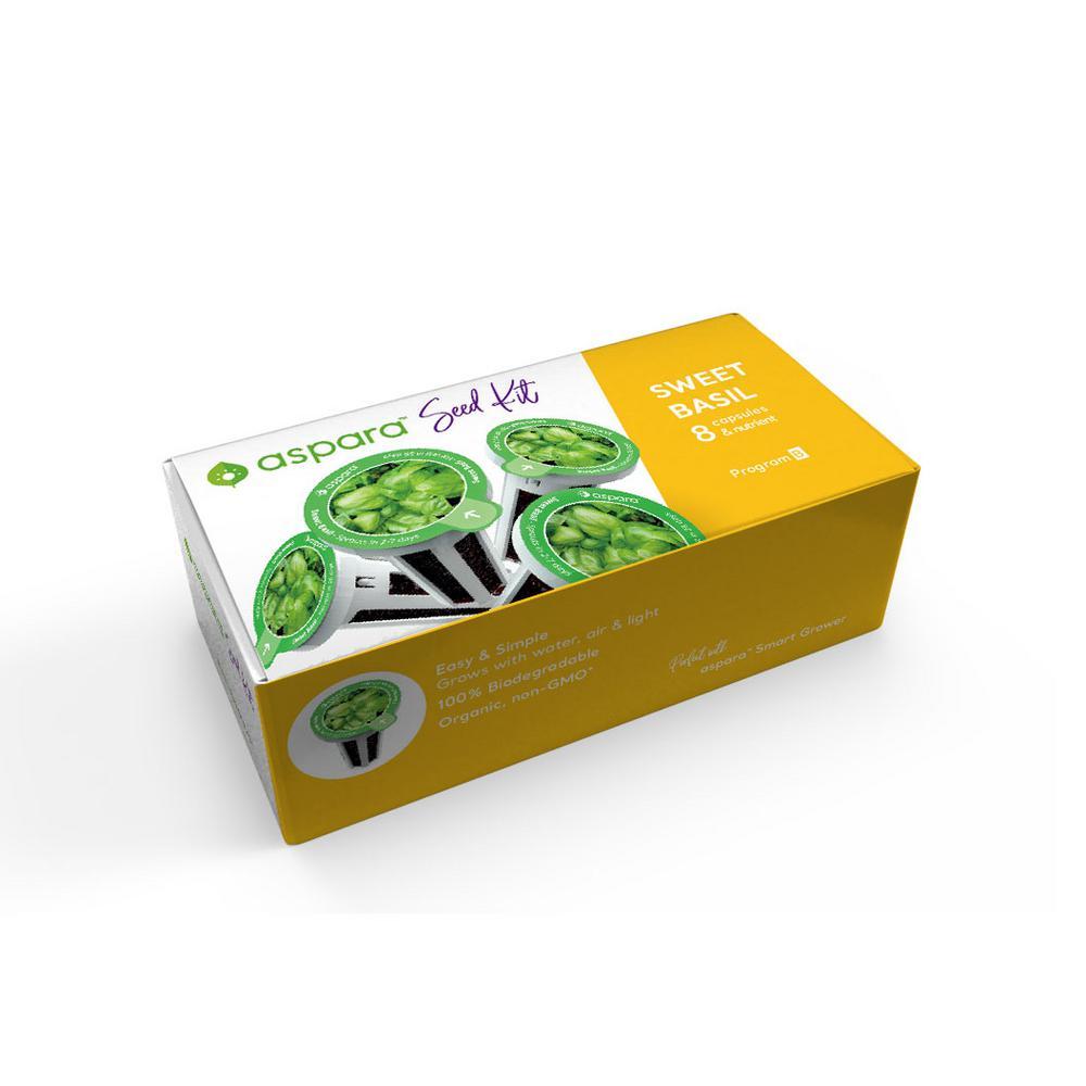 Organic Sweet Basil 8 Capsule Seed Kit