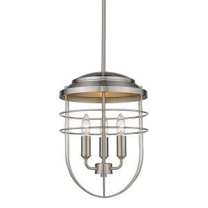 Seaport 3-Light Pewter Lantern Pendant