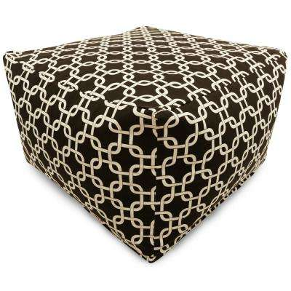 Black Links Indoor/Outdoor Ottoman Cushion