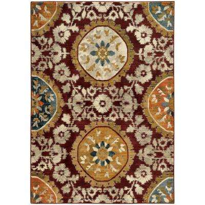Nora Red 10 ft. x 13 ft. Area Rug