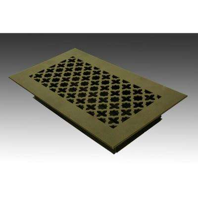 12 in. x 6 in. Oil Rubbed Bronze Poweder Coat Steel Floor Vent with Opposed Blade Damper