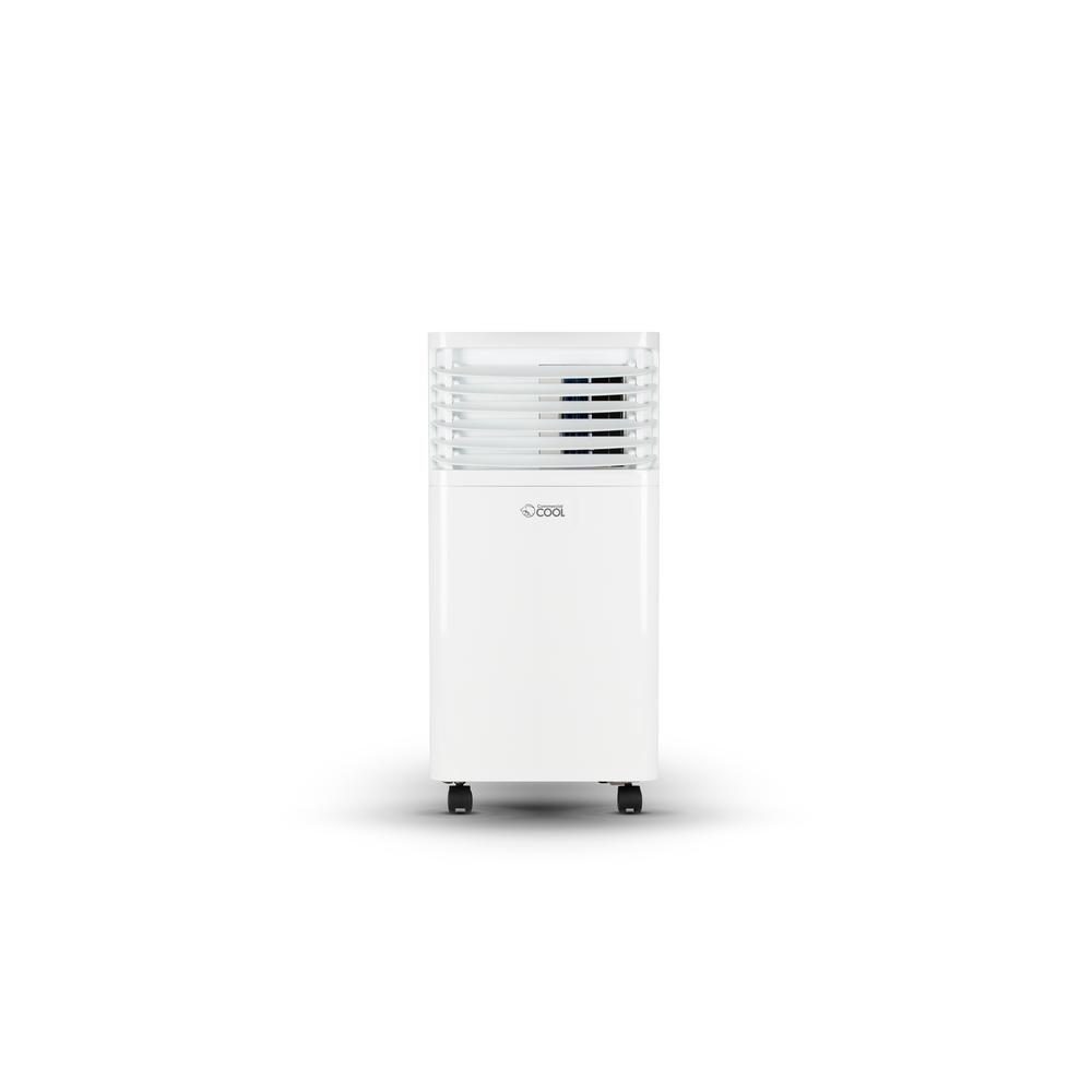 Commercial Cool 5 000 Btu 8 000 Btu Ashrae Portable Air Conditioner With Remote Control White Ccpact08w6c The Home Depot