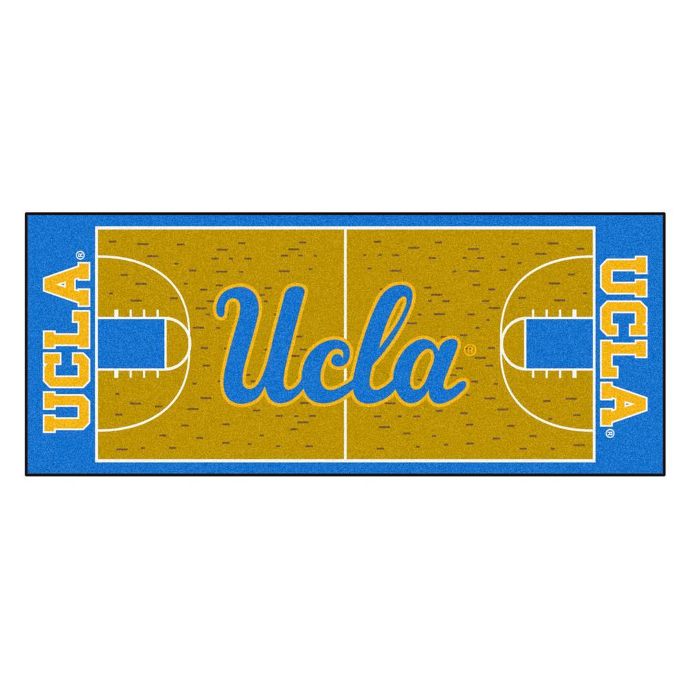 NCAA - University of California - Los Angeles (UCLA) Tan 3 ft. x 6 ft. Indoor Basketball Court Runner Rug
