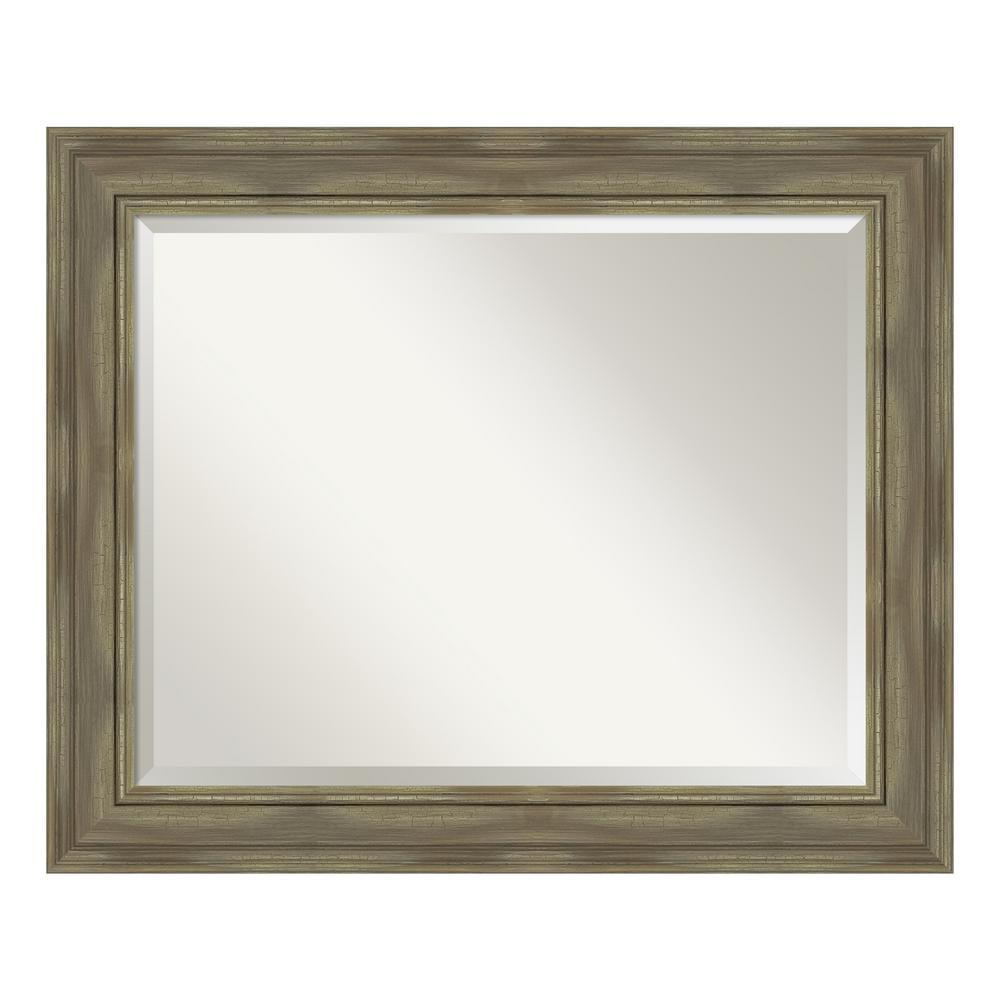 Amanti Art Alexandria Greywash Bathroom Vanity Mirror DSW4094438