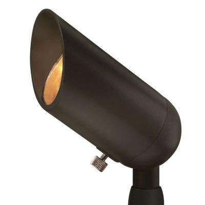 Low-Voltage 50-Watt Bronze Outdoor Spotlight