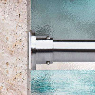 80 in. - 120 in. Premium Tension Curtain Rod in Silver