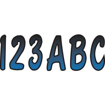 Series 200 Registration Kit, Cursive Font With Top to Bottom Color Gradations, Blue/Black