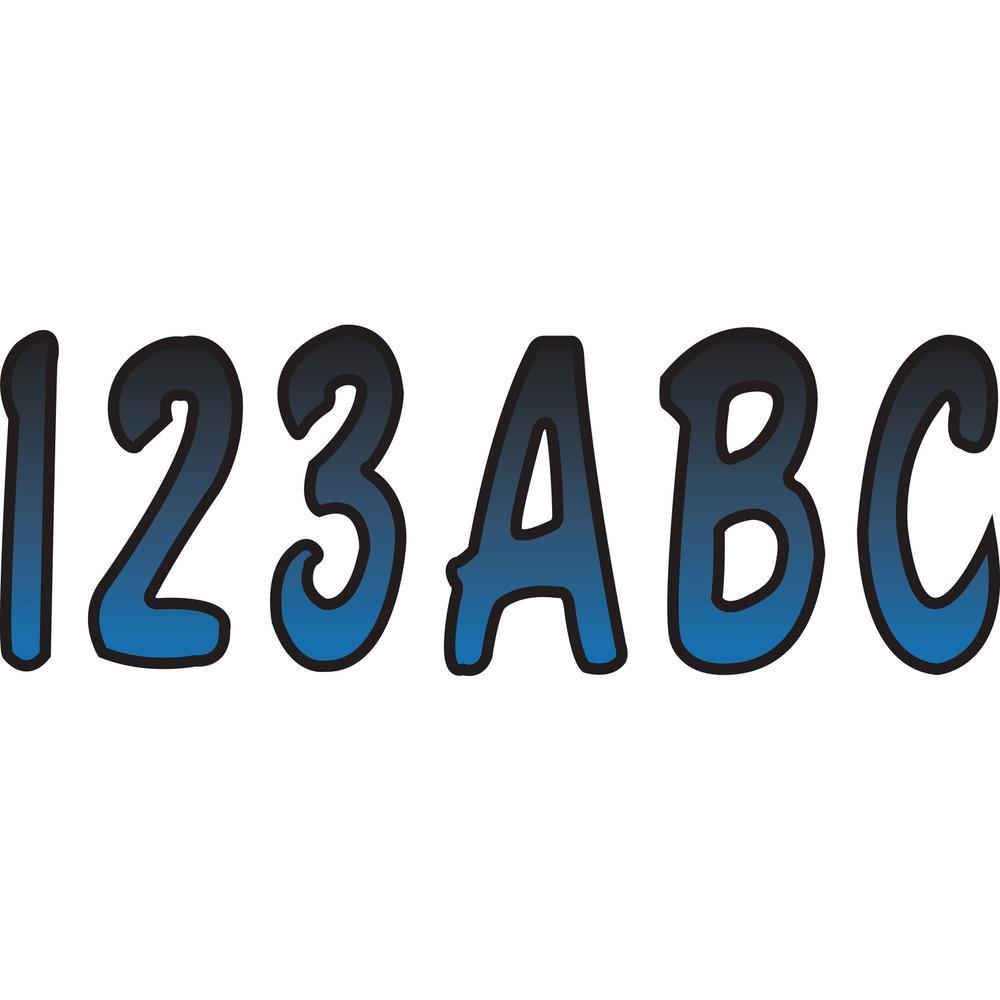 """Hardline BLBKG200 3/"""" Boat Letter And Number Kit Blue And Black"""