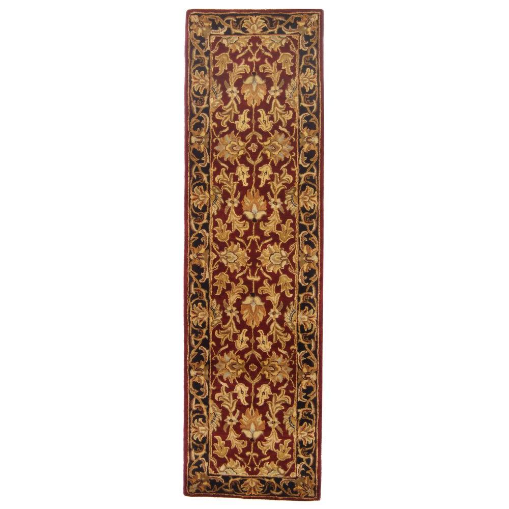 Safavieh Heritage Red/Black 2 ft. 3 in. x 12 ft. Runner