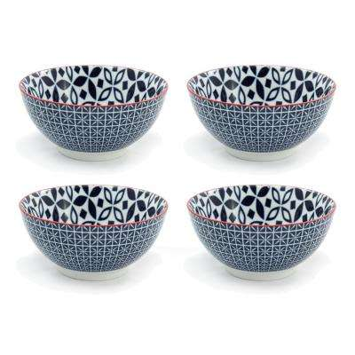 Serena Blue Soup Bowl (Set of 4)