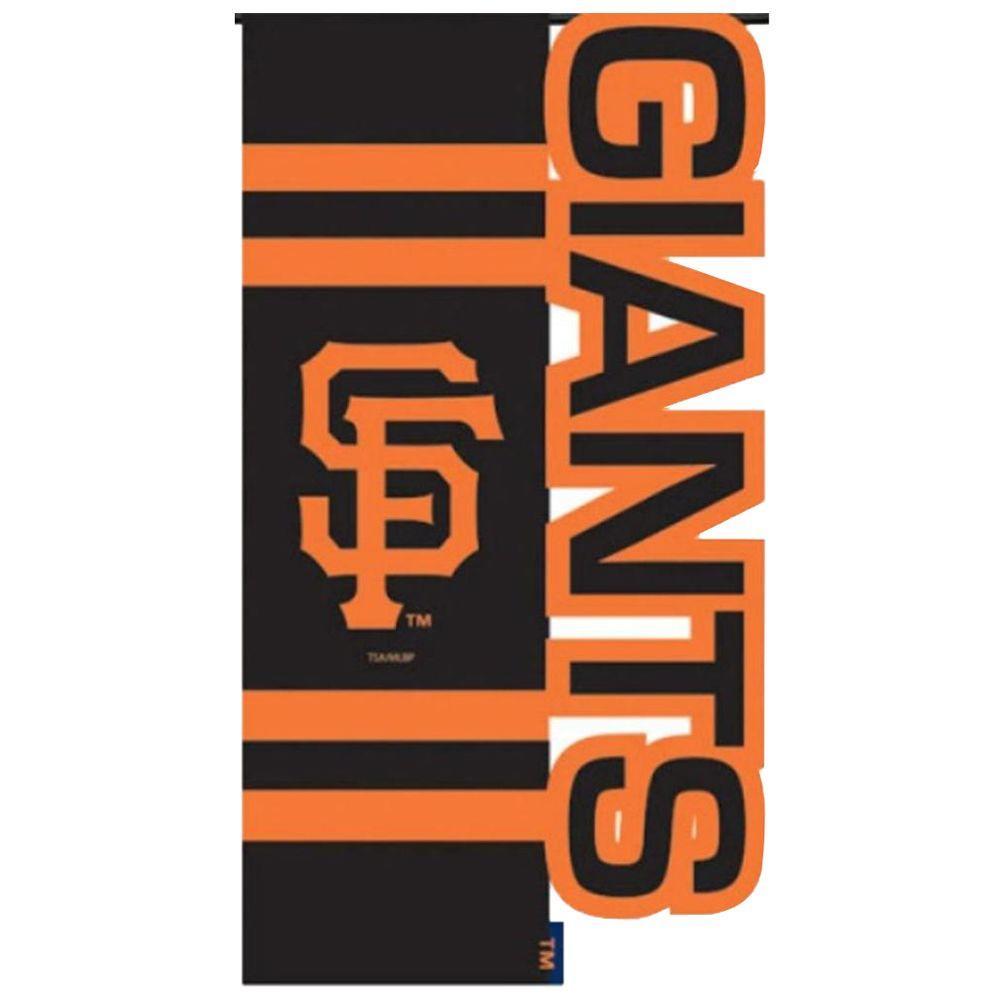 Team Sports America MLB 1 ft. x 1-1/2 ft. Nylon SF Giants Sculpted Garden Flag