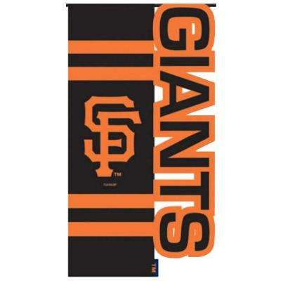MLB 1 ft. x 1-1/2 ft. Nylon SF Giants Sculpted Garden Flag