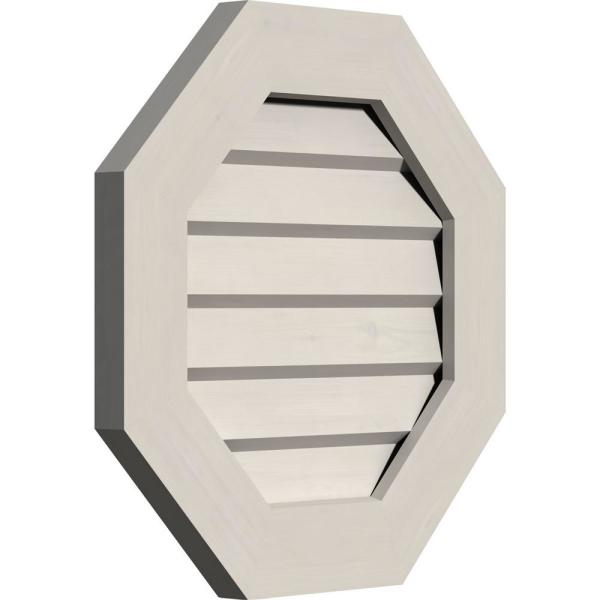 Ekena Millwork 29 X 29 Octagon Primed Smooth Pine Wood Paintable Gable Louver Vent Non Functional Gvwoc24x2402sdppi The Home Depot