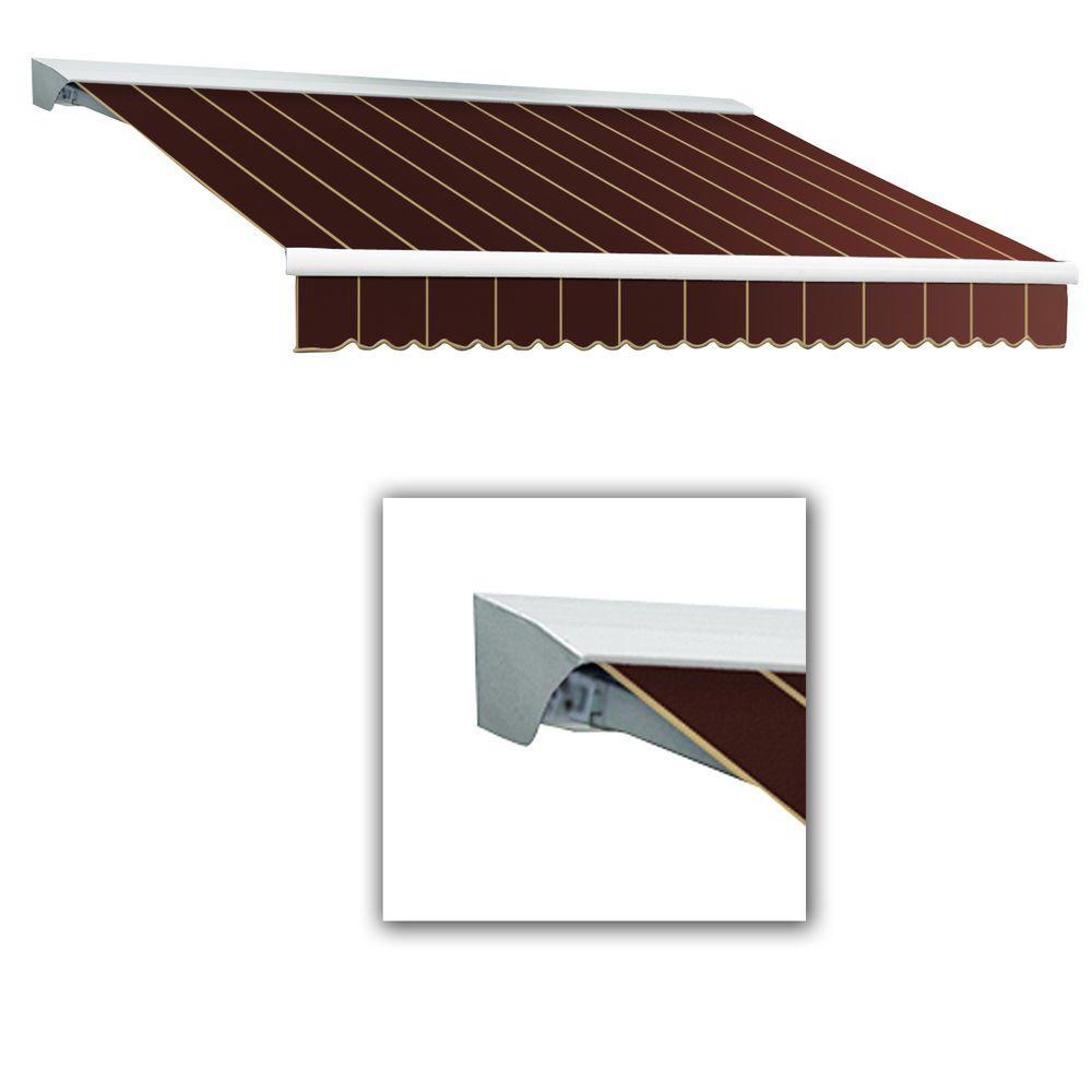 AWNTECH 10 ft. LX-Destin Hood Right Motor with Remote Retractable Acrylic Awning (96 in. Projection) in Burgundy Pin