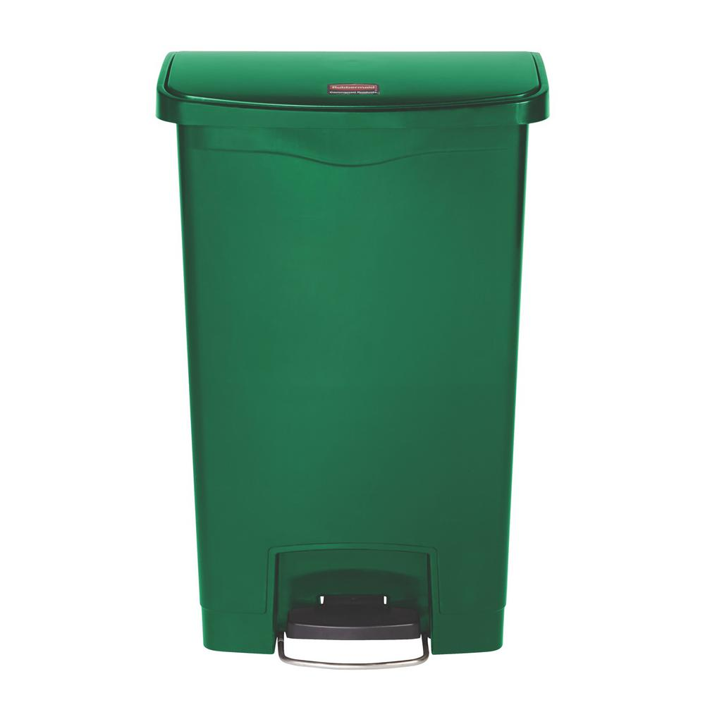 Rubbermaid Commercial Products Slim Jim Step-On 13 Gal. Green ...