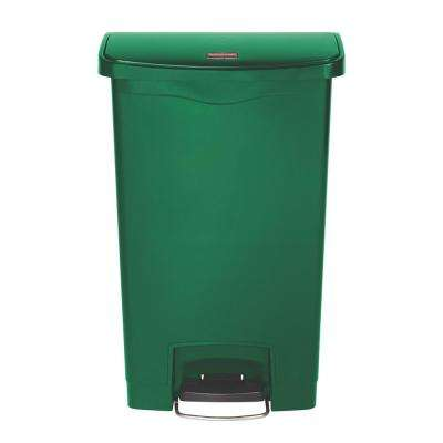 Slim Jim Step-On 13 Gal. Green Plastic Front Step Trash Can