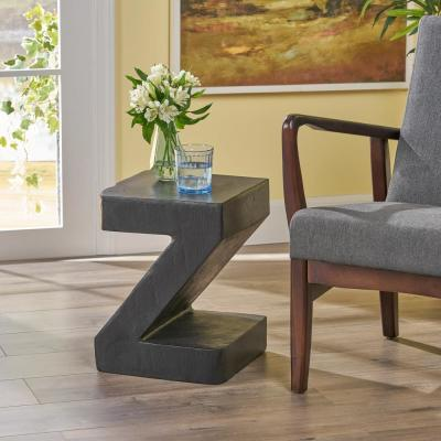 Max Black Stone Outdoor Accent Table