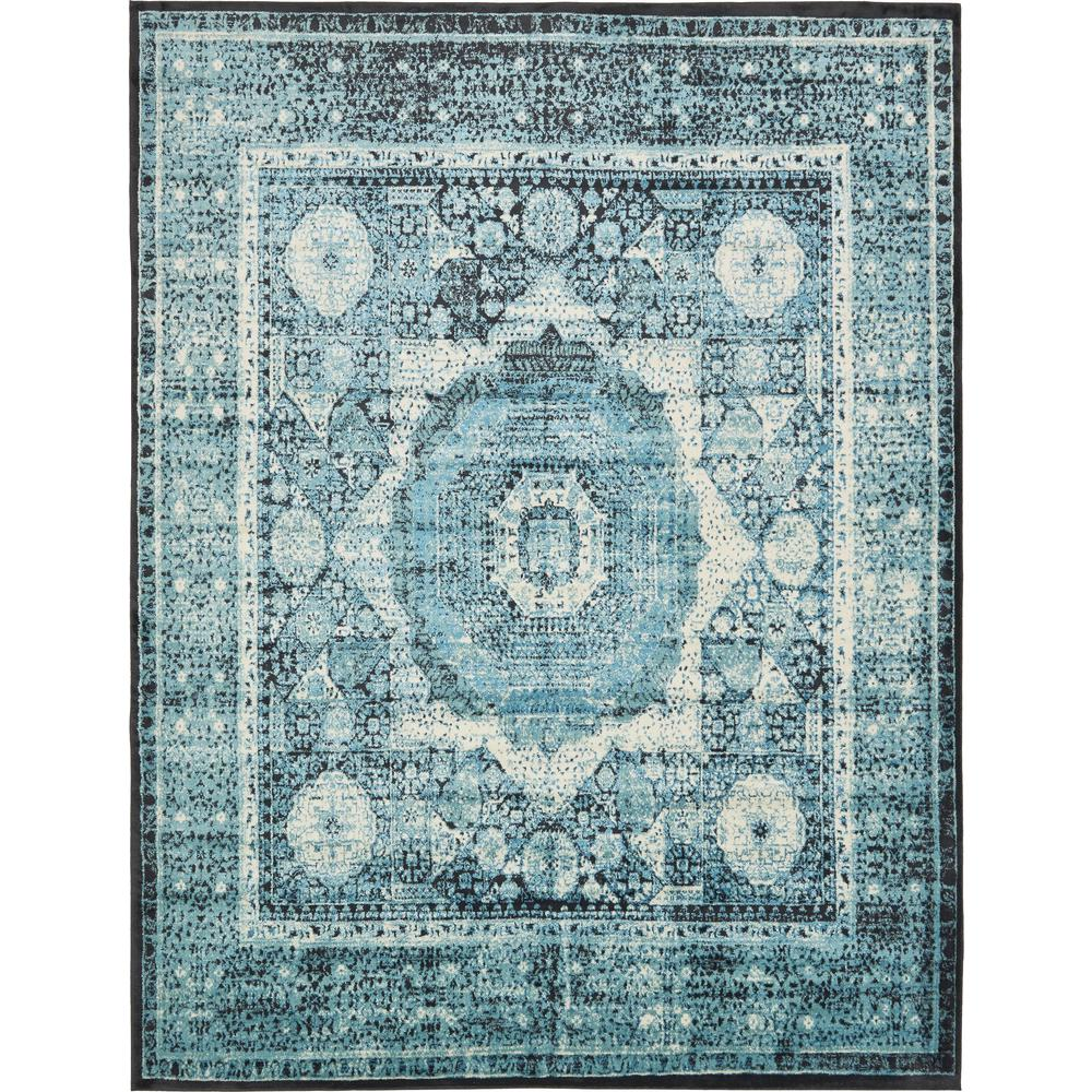 Unique Loom Istanbul Blue 10 Ft X 13 Ft Area Rug 3134960