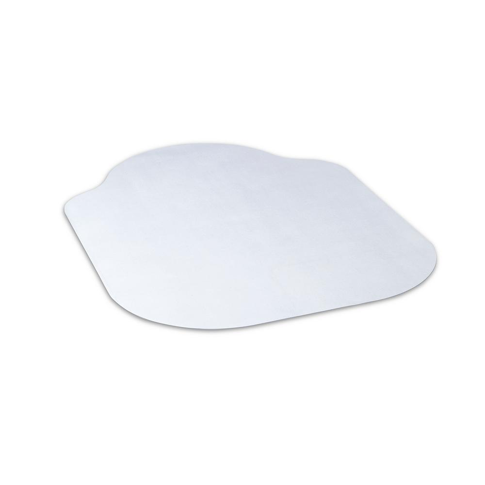 dimex evolve modern shape 42 in x 56 in clear office chair mat