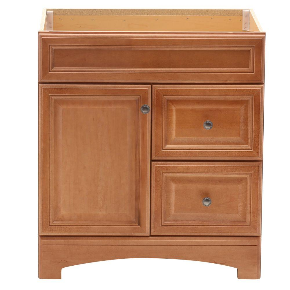 American Classics Cambria 30 in. W x 21 in. D x 33.5 in. H Vanity Cabinet Only in Harvest