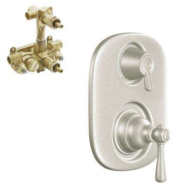 Kingsley 2-Handle Moentrol Valve Trim Kit with Valve in Brushed Nickel