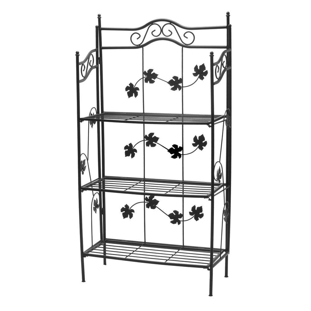 sun wave baker rack hd5308 bk the home depot. Black Bedroom Furniture Sets. Home Design Ideas